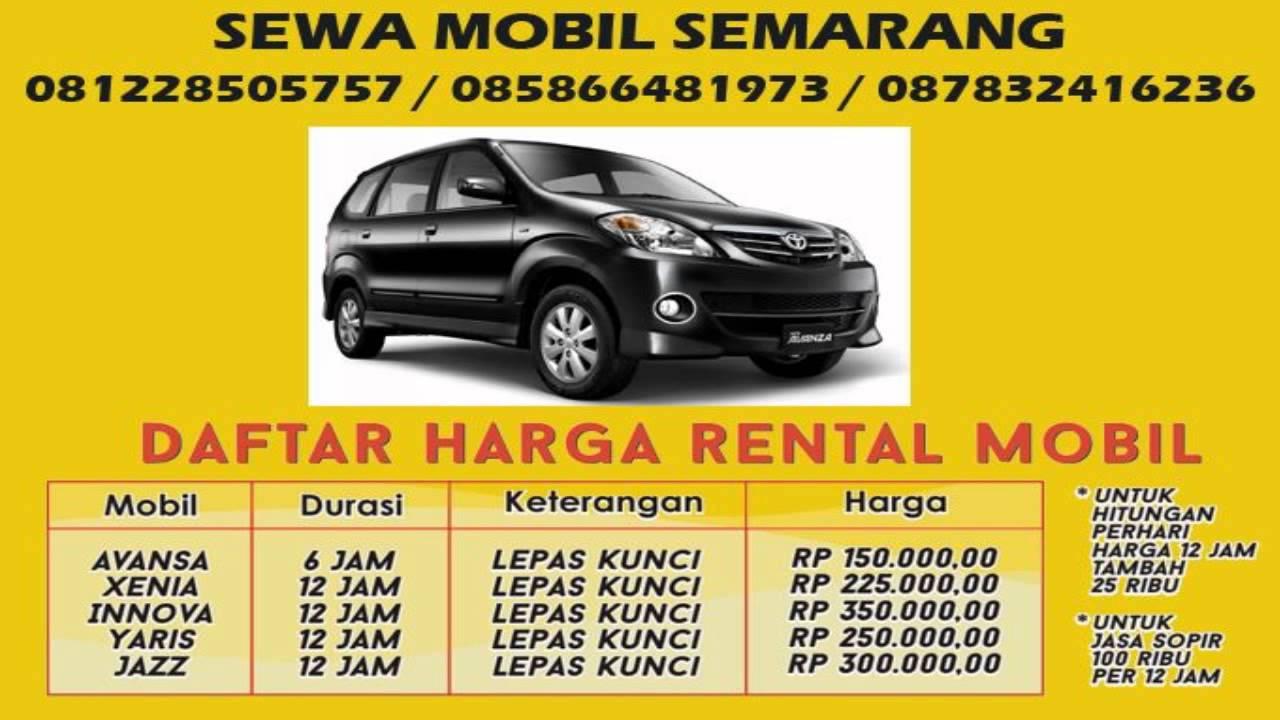 Sewa Mobil Semarang 085866481973 Youtube