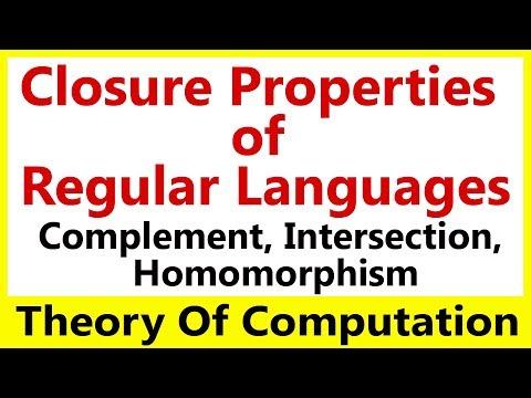 Theory Of Computation #11 Closure Properties of Regular Languages
