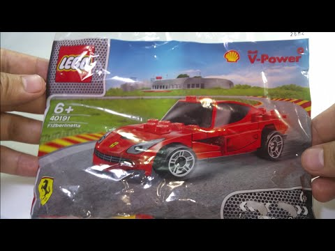 Premium Ferrari Lego Toy And Assembly From Shell Gasoline V-power