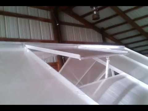 Harbor Freight Greenhouse Window Hinge Install Youtube