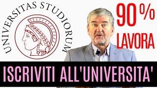 Iscriviti all'Università : Il 90% dei laureati lavora!
