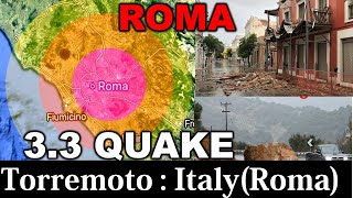Italy : Terremoto a Roma di magnitudo 3,3, epicentro vicino a Fonte Nuova