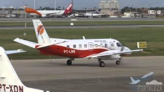 [SBFZ/ FOR] Decolagem & Pouso RWY13 Embraer EMB-110P1 Bandeirante PT-LRR 18/07/2015