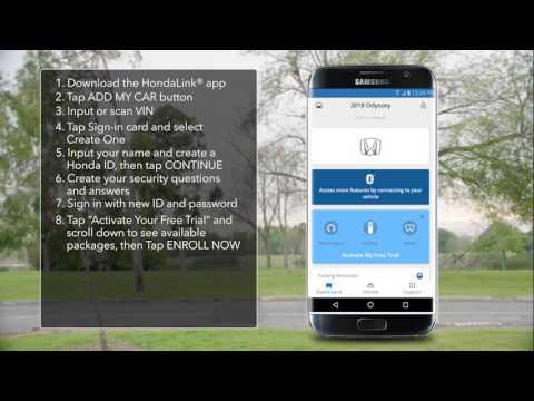 2018 Honda Odyssey How To Register And Enroll For Hondalink