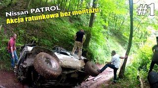 Nissan Patrol Y60 wywrotka Akcja ratunkowa Bez montażu