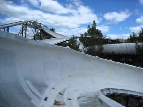 Alpine Bobsled Front Seat on-ride POV Great Escape - YouTube