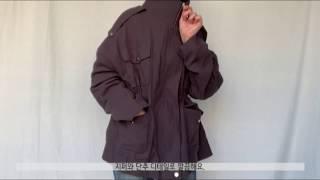 [데이로그 피팅컷] 투포켓 스트링 숏야상 점퍼