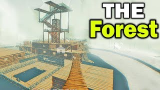 The Forest - Building A SNOW BASE!! The Forest Multiplayer!! (The Forest Gameplay)