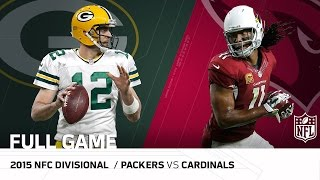 "2015 NFC Divisional Round: Packers vs. Cardinals | ""Fitzgerald's Legendary Day"" 
