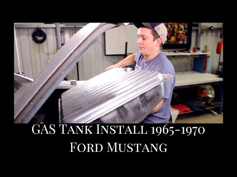 1965-1970 MUSTANG COUPE | Fuel Tank Install | Fuel Filter Replacement | Fuel Sending Unit Install
