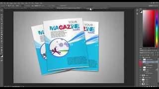 Four Dimensional Magazine Mockup Downlod Free