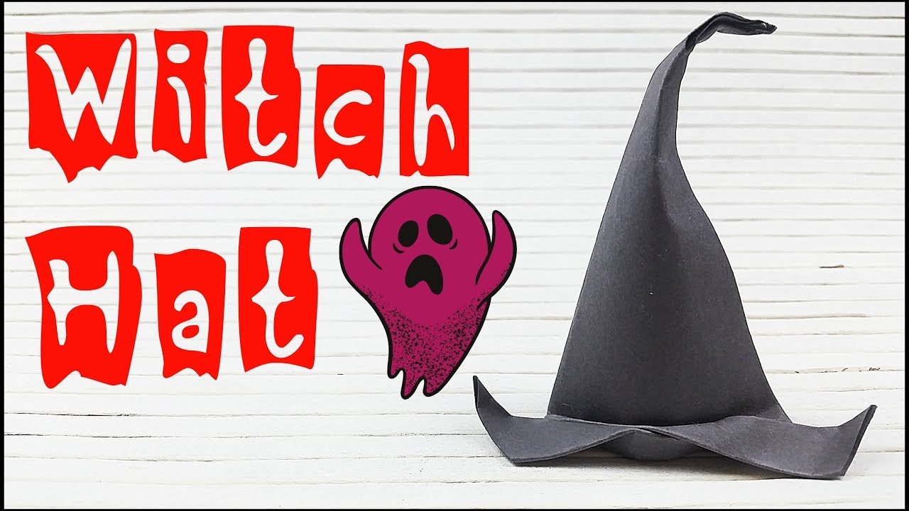 Diy Fascinator Origami Witch Hat Paper Halloween Decorations Easy