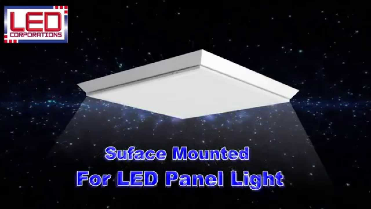 How To Install Surface Mounted LED Panel Light   YouTube How To Install Surface Mounted LED Panel Light