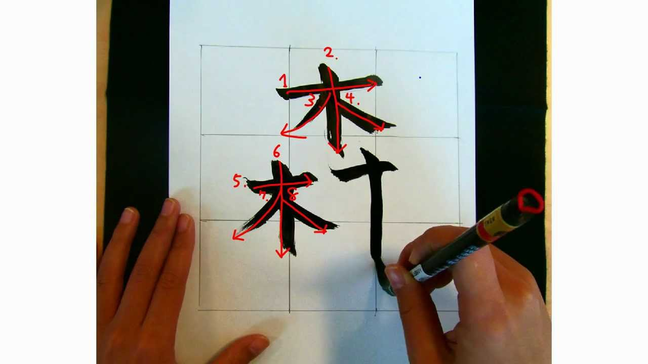 Elmo Lesson How To Draw The Chinese Symbol Japanese Kanji For