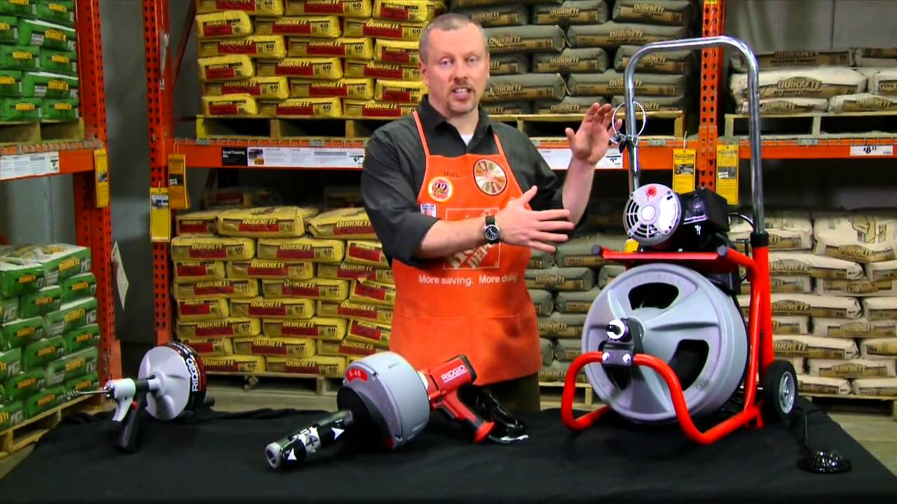 Ridgid Drain Cleaning Tools The Home Depot Youtube