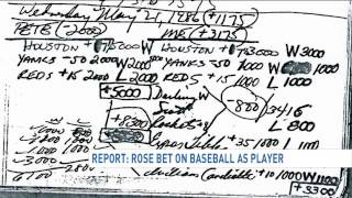 Report reveals Pete Rose bet on baseball as a player