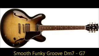 Smooth Funky Groove Dm7 - G7 long backing track