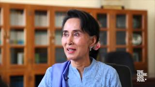 Leader of Myanmar's opposition Aung San Suu Kyi sits down with The Globe