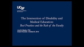 10/8/2014: The Intersection of Disability and Medical Education