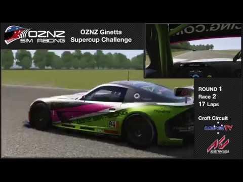OZNZ Sim Racing Ginetta Supercup Challenge Round 1 Race 2
