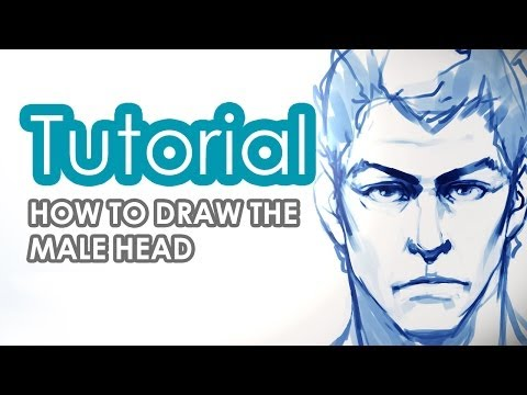 How to draw a male head tutorial