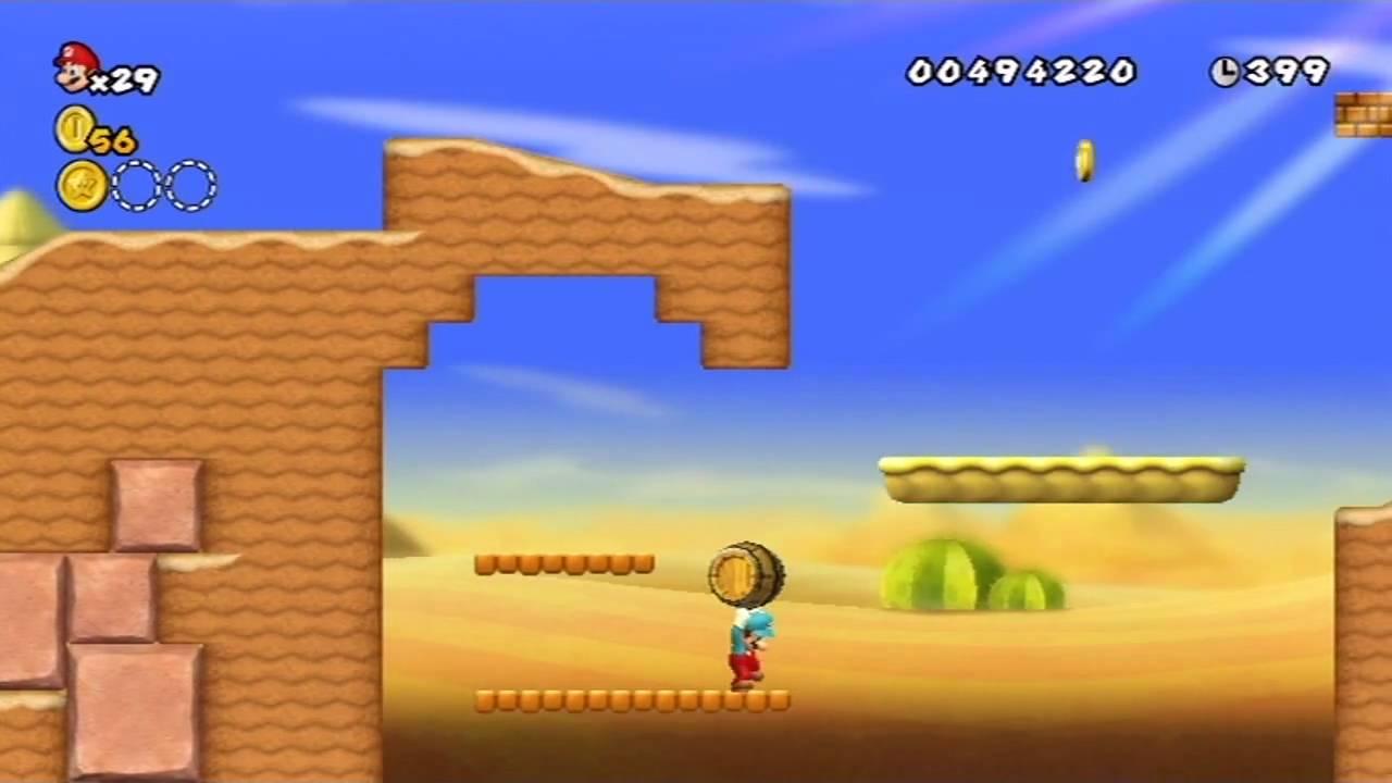 New Super Mario Bros  Wii - World 2 (Part 1 of 3)