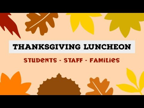 Thanksgiving Luncheon 2020