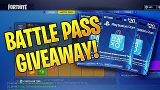 """GIVEAWAY"" FORTNITE SEASON 5 PASS GIVEAWAY- NEW FORTNITE UPDATE! ITEM SHOP UPDATE TRADING SYSTEM"