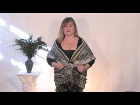 Unique Ways To Tie a Scarf and Wear a Shawl, Part 1 by The Proud Peacock 2011