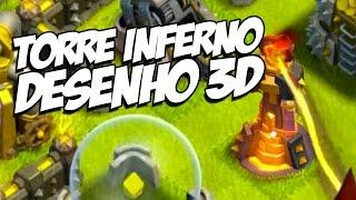DESENHANDO TORRE INFERNO EM 3D - Clash of Clans