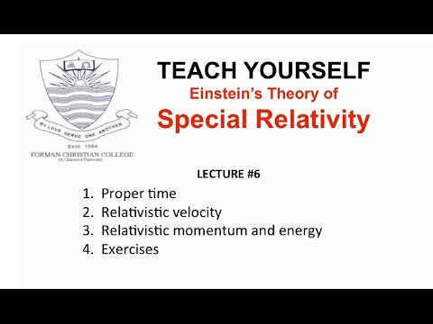 Lecture 6: Momentum and Energy (Special Relativity - English) | Pervez Hoodbhoy