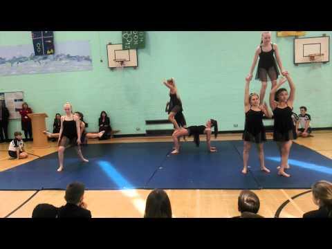 Mrs Barrett's leaving assembly including Gymnastics Performance