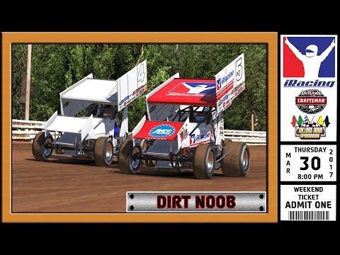 """""""iRacing: Dirt Noob"""" (305 Sprint Car at Williams Grove Speedway)"""