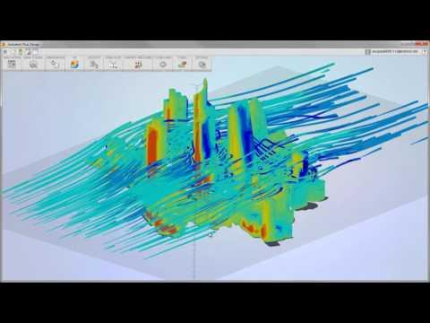 Autodesk    Flow    Design  Airflow Analysis around Urban