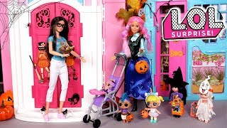 Barbie Family LOL Baby Goldie & Punk Boi Adventures - Trick or Treat on Halloween