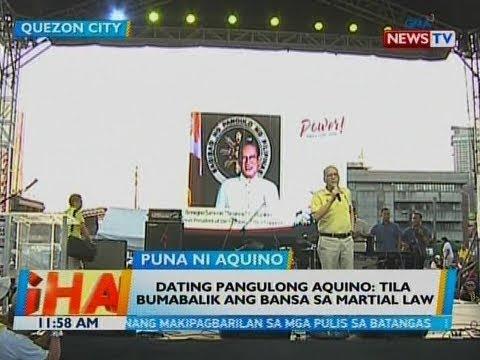 BT: Dating Pang. Aquino: Tila bumabalik ang bansa sa martial law