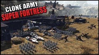 Clone Army MEGA FORTRESS Defense - Men of War: Star Wars Mod Battle Simulator