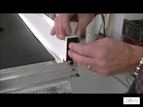 Montage des tap es sur une porte en acier zilten youtube - Montage porte d entree ...