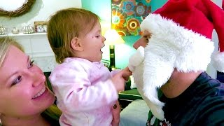 BABY REACTS TO SANTA!