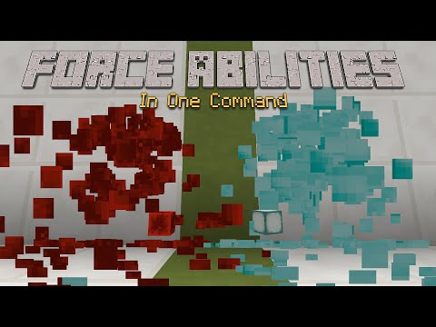 Minecraft - Force Abilities [One Command]