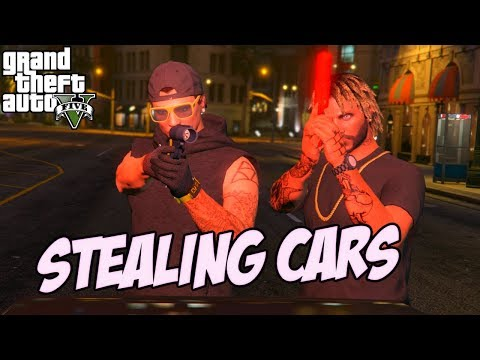 GTA 5 SCHOOL KIDS IN THE HOOD #3 (STEALING CARS)
