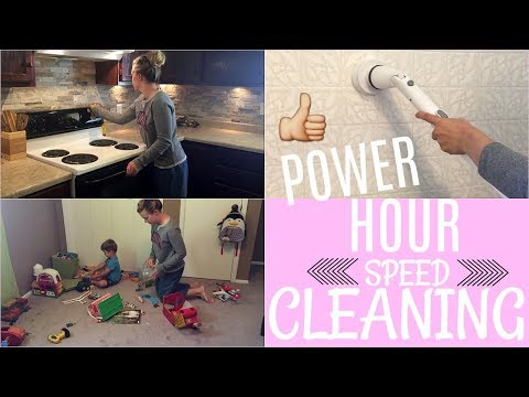 SPEED CLEANING MY HOUSE | POWER HOUR CLEAN WITH ME | SAHM
