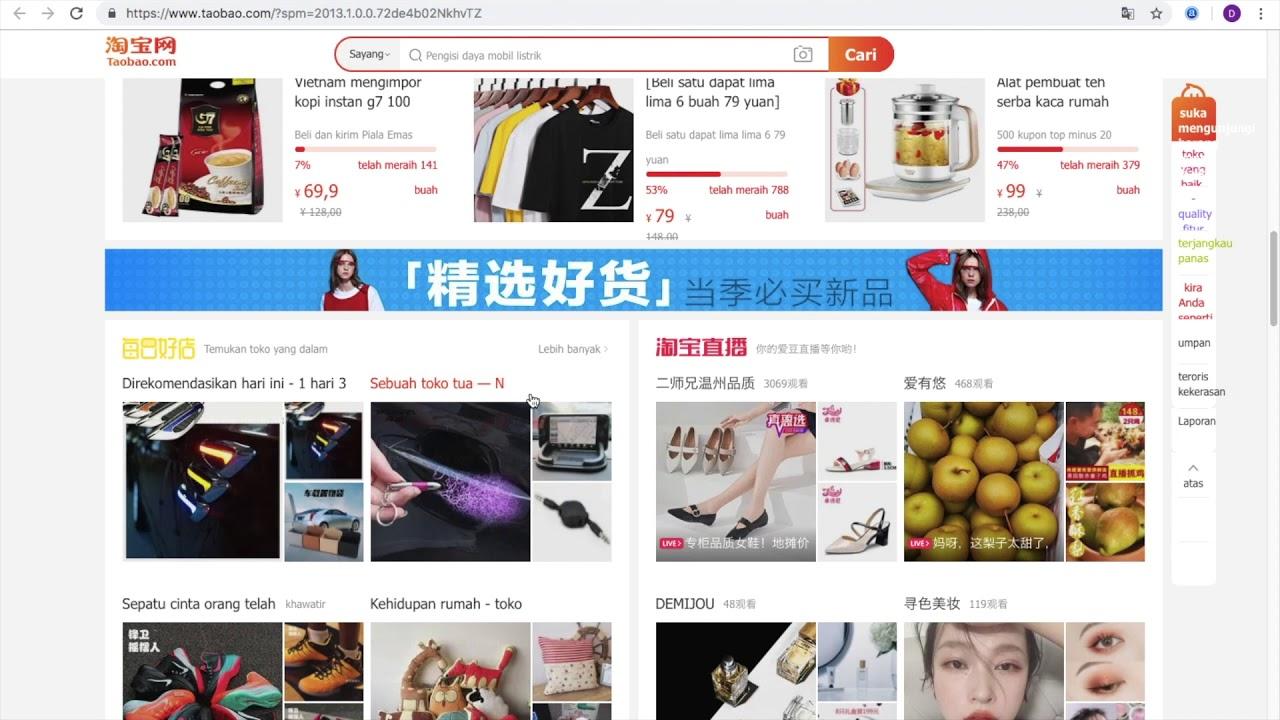 cara order taobao