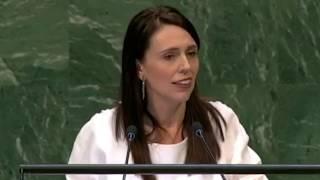 PM Jacinda Ardern speaking at UN General Assembly