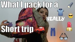 WHAT I PACK FOR A SHORT TRIP | pack with me