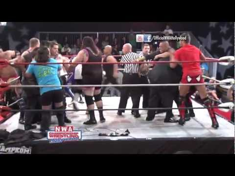 Los Bandidos Brawl With The Tribe! - NWA Hollywood (5/20/12)