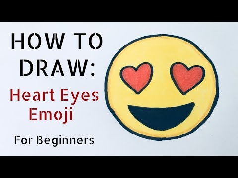 How to Draw the Heart Eyes Emoji - For Beginners