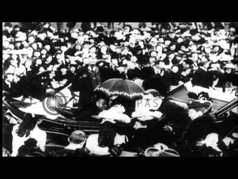 Queen Victoria visits Dublin, Ireland HD Stock Footage