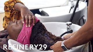 I Bleached My Hair & Dyed It Honey Brown | Hair Me Out | Refinery29