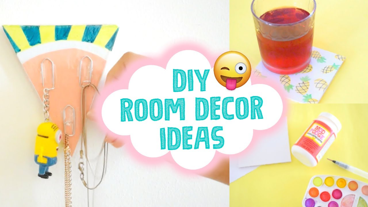 Diy summer room decor ideas quick easy 5 minute diy for Room decor 5 minute crafts